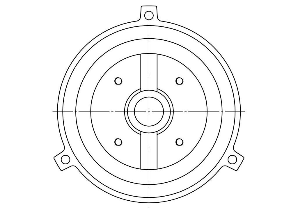 Single phase, circular, four holes