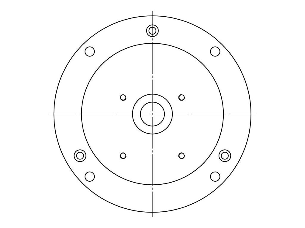 Single phase, circular eccentric, four holes